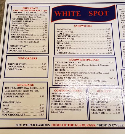 Fryin 39 them up picture of white spot charlottesville for Table 52 brunch menu