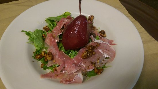 Sebasco Estates, ME: Poached Pear Salad