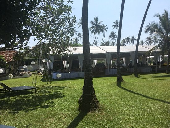 Paradise Road The Villa Bentota: wedding set up