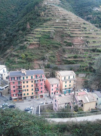 Camere Manuela Moggia: The small block is our apartment situated in centre of Vernazza
