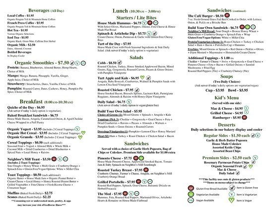 Mountain Home, AR : New Menu!