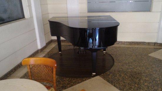 Hotel Alpina: Piano de cauda no bar