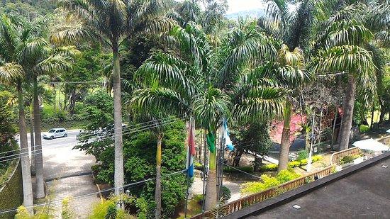 Hotel Alpina: Vista da varanda do apartamento do 2º andar, virado para a rua