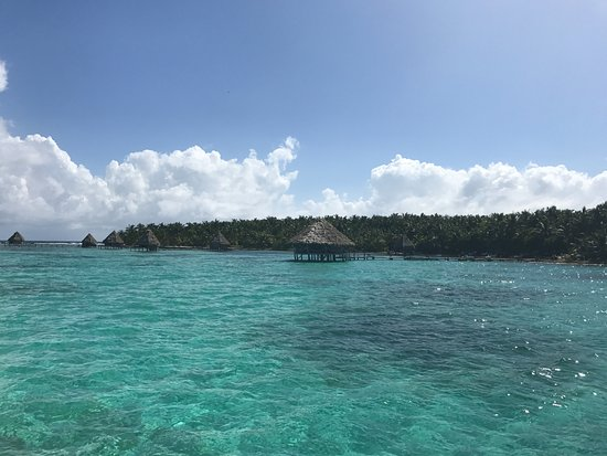 Hopkins, Belize: View from dive boat