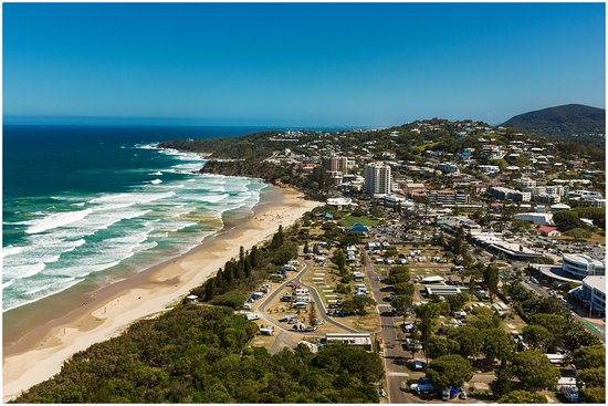 Coolum Beach, Αυστραλία: Aerial View looking South