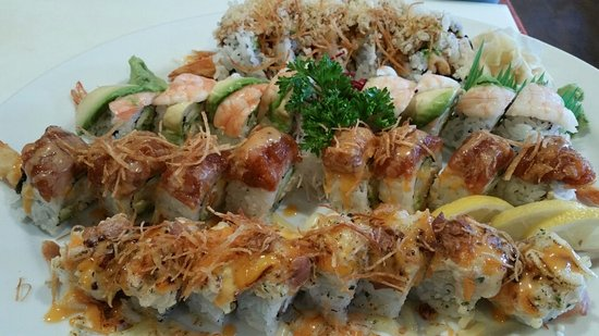Courtenay, Canadá: Gangster,soybean,Gogo,Rainbow,Crunch,spider,uglytruth,River Rolls ^^ Try them~you would be happy