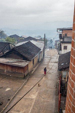 Chajul, Guatemala: 3rd floor balcony view looking down the street
