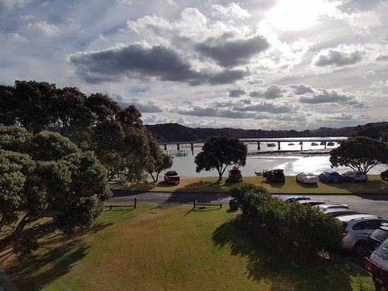 Waitangi, New Zealand: View from Harbour view room second floor