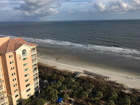 Myrtle Beach Marriott Resort & Spa at Grande Dunes: looking straight out and a bit north