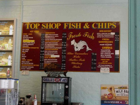 Woodend, Australien: Wall Menu