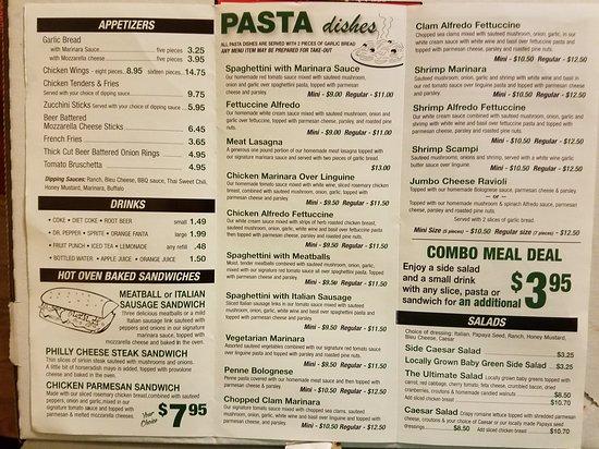 Spaghettini : Updated menu.