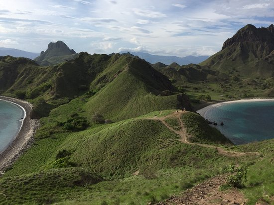 Komodo, Indonesia: Padar Island, all green on Dec. For such a short trek you get incredible view, a must visit!