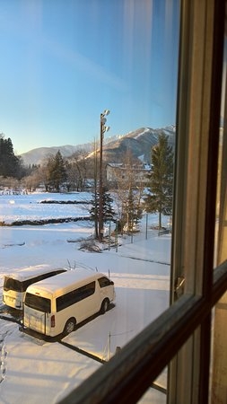 Resort Hotel Rosenheim Hakuba : View from room 207 with slope on the right hand side