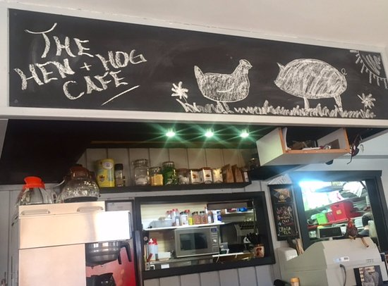 Hostess stand, The Hen and Hog Cafe 1190 Cliffe Ave, Courtenay, British Columbia