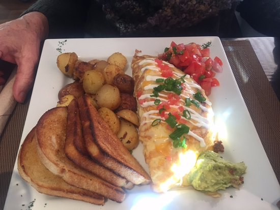 Taco Omelette The Hen and Hog Cafe 1190 Cliffe Ave, Courtenay, British Columbia