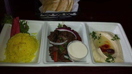 Phoenicia Restaurant: Beef shawarma plate