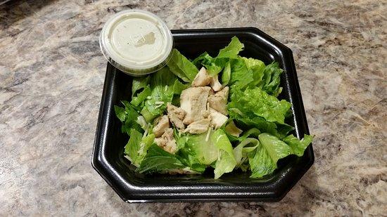 Yukon, OK: Chicken caesar side salad