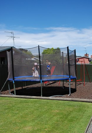 Taylors Motel: safety trampoline and swing