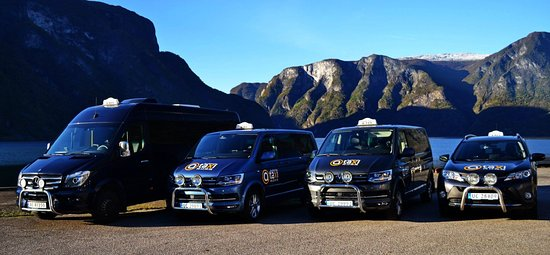 Aurland Municipality, Norsko: We have new vehicles from 1 to 16 people