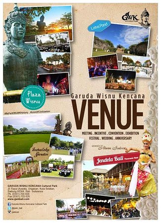 Garuda Wisnu Kencana Cultural Park: GWK for your event. We create a memorable event on the land of culture.