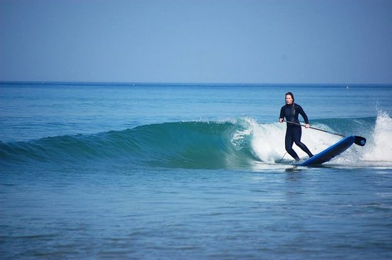 SUP Surf in El Palmar Andalusien