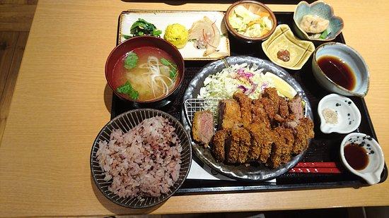 Hashiya Okayama Ichibangai:Hashiya炸牛排套餐