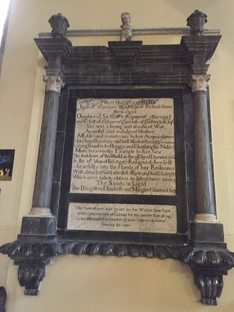St. Nicholas' Collegiate Church: One of the monumental inscriptions to the real Jane Eyre's family