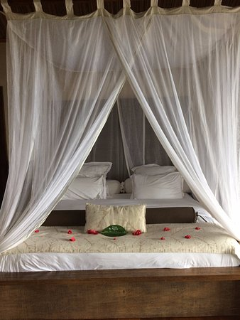 Lakaz Chamarel Exclusive Lodge: Amazing Bed with mosquito net all round