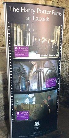 Lacock, UK: Harry Potter Banner