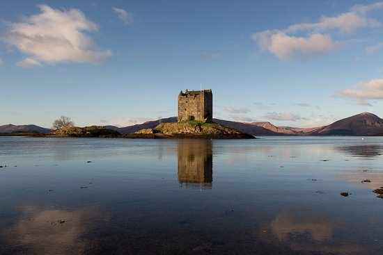 Appin, UK: New Years Day at Castle Stalker