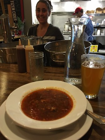 Essex, Vermont: Kimchee and spicy pork soup at Pork and Pickles