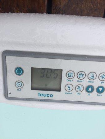Villa dei Platani Boutique Hotel & Spa: temperatura idromassaggio