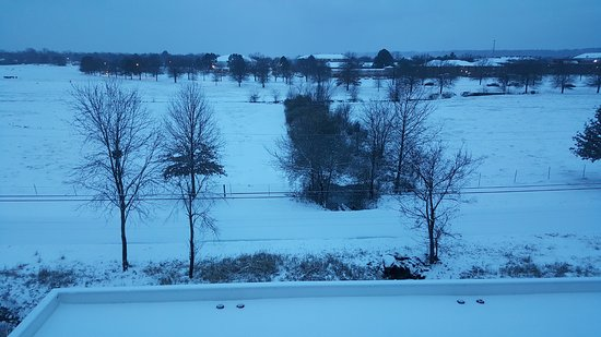 Russellville, AR: Okay, this is not normal in Arkansas, but this is what I woke up to :)