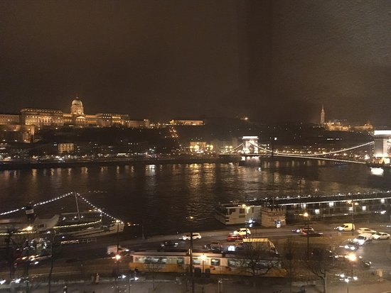 Sofitel Budapest Chain Bridge: View from room (greasy smudge on window not pictured)