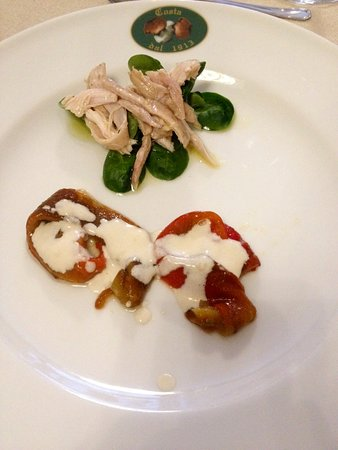 Antica Osteria Costa: Rabbit with marinated peppers and bagna cauda