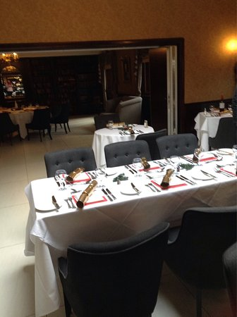 Charnwood room set for lunch