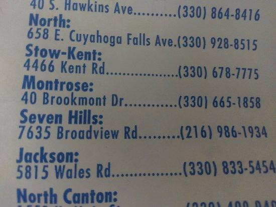 Swensons (Seven Hills) Drive-In Restaurants: locations