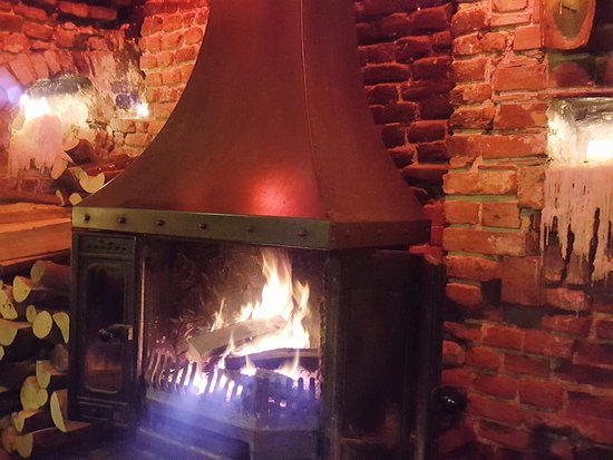 Elham, UK: One of the cosy fires