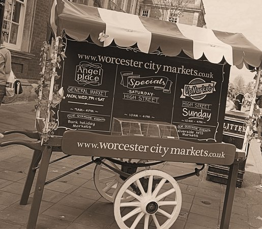 Worcester City Markets Every Wednesday, Thursday, Friday & Saturday In Angel Place.