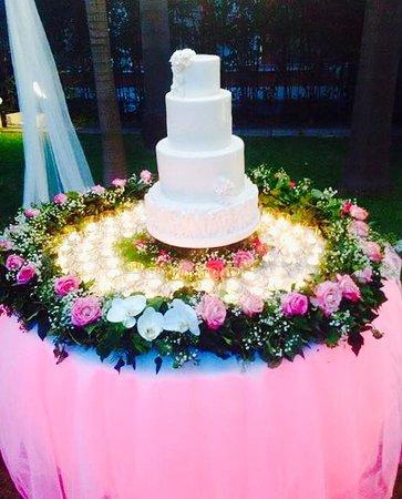 Tonight's wedding cake at the Villa la Contessina!
