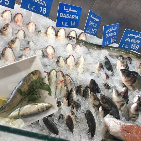 Grilled fish picture of fish market cairo tripadvisor for River fish market