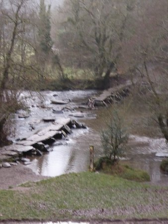 Exmoor National Park, UK : Tarr Steps Damaged By Floodwater November 2016 (31/12/2016)