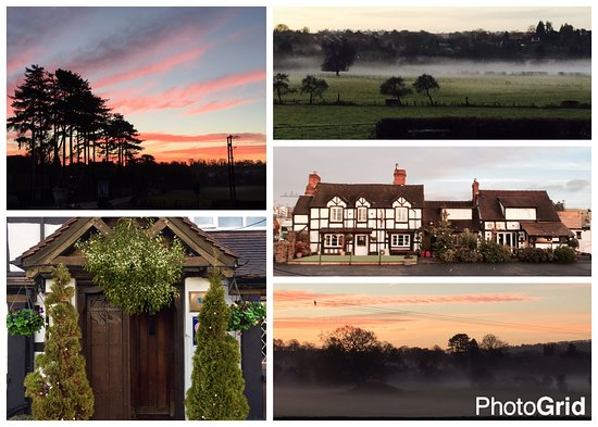 Tenbury Wells, UK: A photogrid of a weekend at the Rose & Crown
