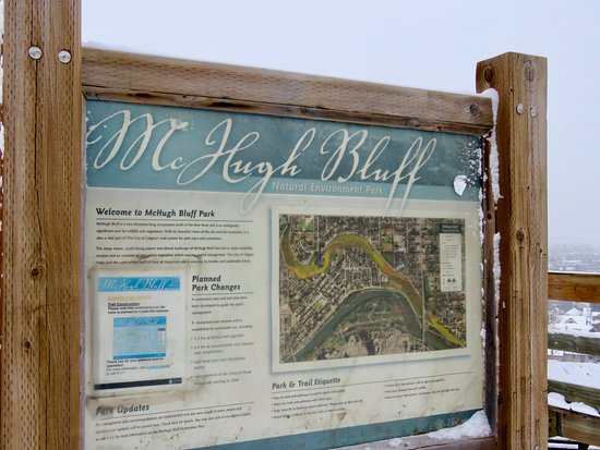 McHugh Bluff Park: Park sign