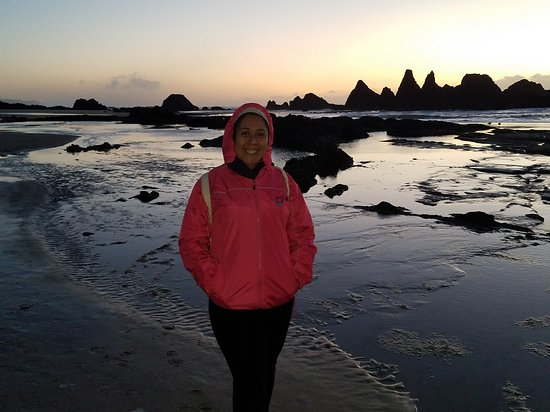 Otter Rock, OR: En nuestro viaje por la Costa del Oregon no podiamos dejar de visitar aunque sea unos minutos.