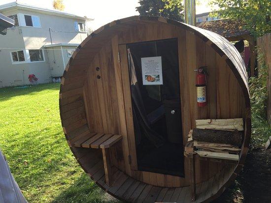 Base Camp Anchorage : New Barrel Sauna addition