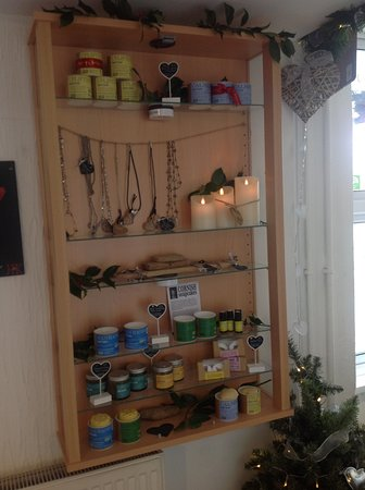 Torpoint, UK: A selection of treasures and trinkets for sale.