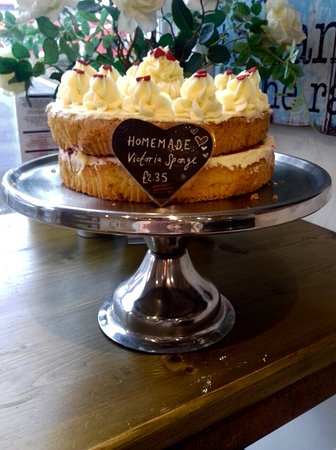 Torpoint, UK: Fancy a slice of our freshly made Victoria sponge?.