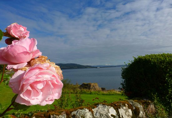 View from the garden at Montford Cottage, Isle of Bute