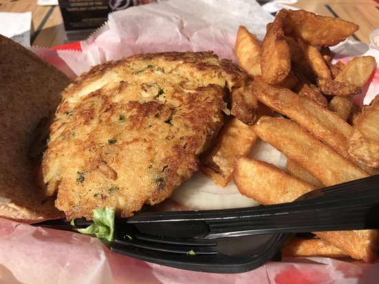 Ellenton, Floryda: Crab Cake sandwich